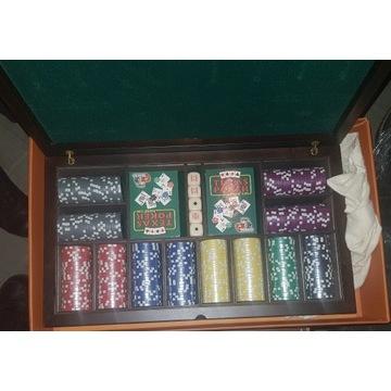 Walizka do pokera z drewna (Nowa)