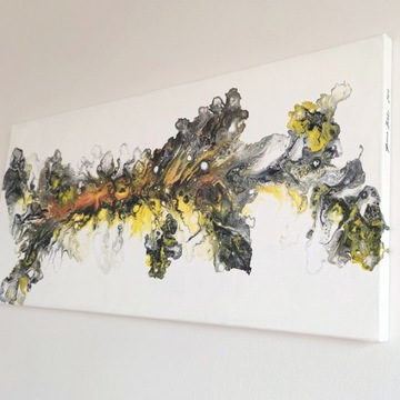 Obraz malowany abstrakcja 40 x 90 cm
