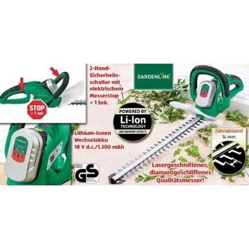 Akumulatorowe nożyce do żywopłotuGardenline Li-ion