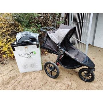 wózek dziecięcy BabyJogger Summit X3 folia deszcz