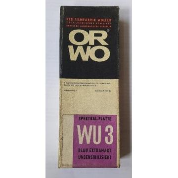 klisza szklana ORWO WU3 spektral-plate