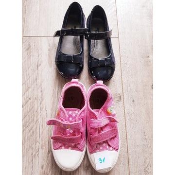 Buty roz. 31 lakierni i trampki używane