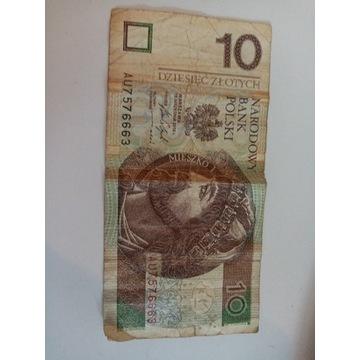 Banknot-ciekawy numer seryjny