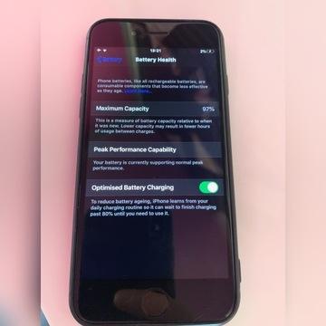 iPhone 7 uszkodzony. 32 GB. Czarny.