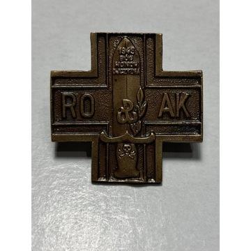Odznaka AK ROAK Ruch Oporu Armii Krajowej wyklęci