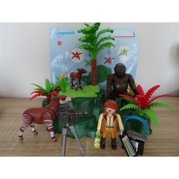 5415 Playmobil Okapi przy skale z gorylem zestaw