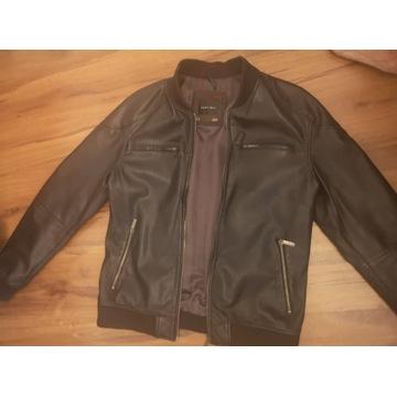 ZARA MAN skórzana kurtka bomber jacket 100% orygin