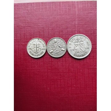 Srebrne monety Anglia lot