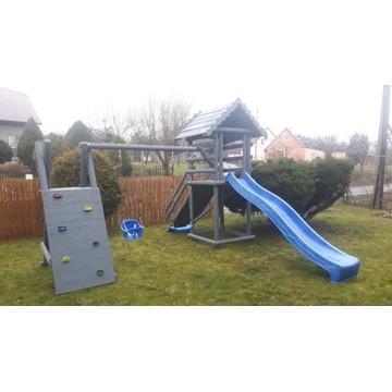 Plac zabaw ogrodowy drewniany 3m  ślizg dla dzieci