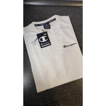 Champion - Oryginalna Biała koszulka rozmiar S
