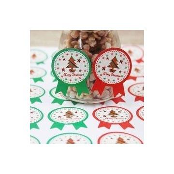 Boże Narodzenie, naklejki prezenty 10 sztuk