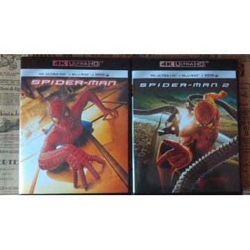 Spider-Man Blu-Ray 4K Trylogia