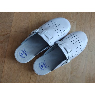 Medibut 38 (25 cm) skórzane buty medyczne białe