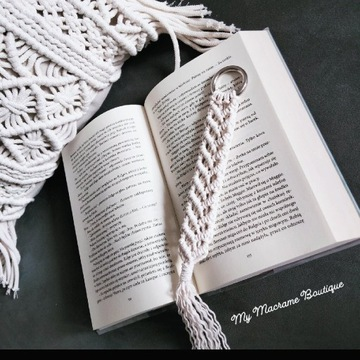 Zakładka do książek Boho Makrama handmade