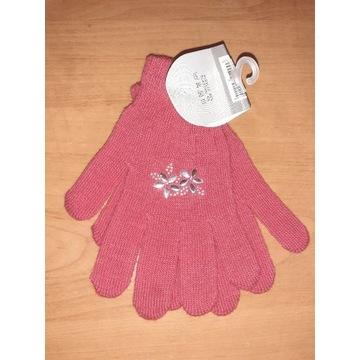 Nowe rękawiczki dziewczynki damskie 17 18 cm S