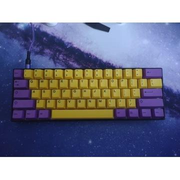 Klawiatura custom 60% keycapy, plate, case, lubed