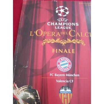 program Bayern - Valencia FINAŁ