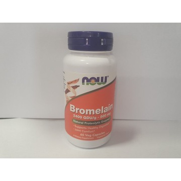 Bromelaina 500 mg - 60 Veg Kapsułki Nowfoods