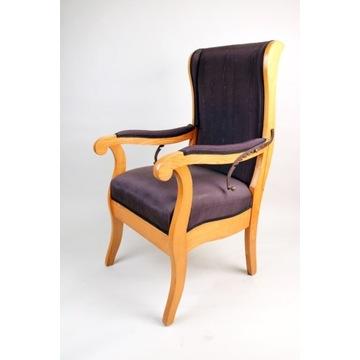 Fotel uszak Biedermeier