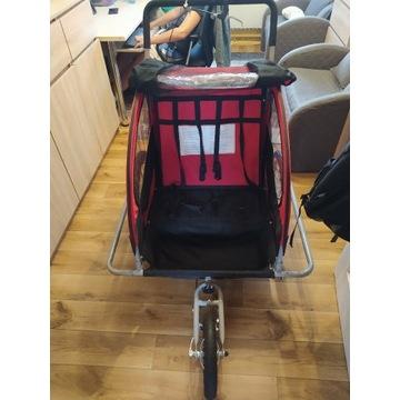 Przyczepka rowerowa, Riksza, dla  2 dzieci, 2w1