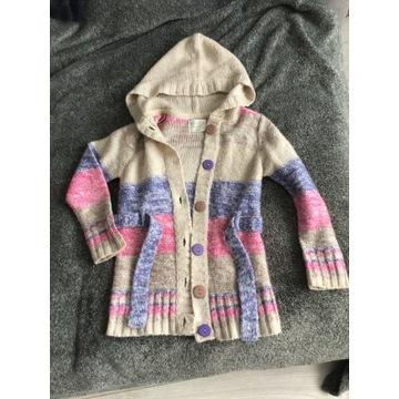 Narzutka, sweterek dla dziewczynki 116cm-śliczna