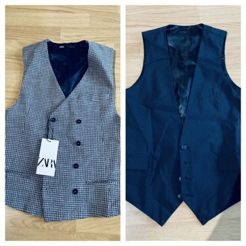2xS Kamizelka ASOS i ZARA vintage retro vest