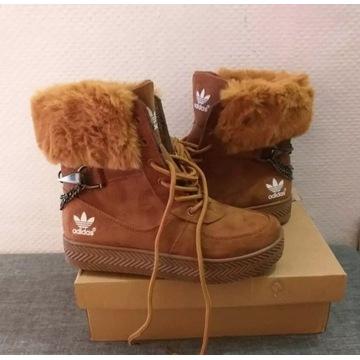 Ocieplane buty Adidas jesienno - zimowe