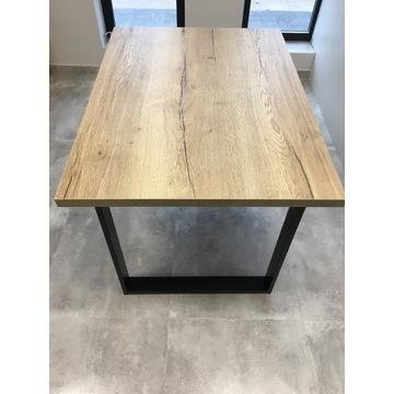 Stół w stylu industrialnym 120x88 Dąb Halifax