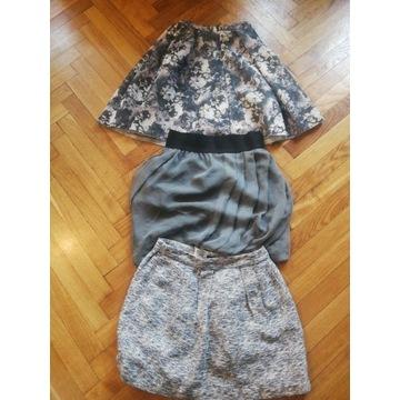 Zestaw 3 spódnic mini rozmiar S jak nowe Zara