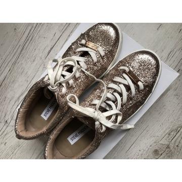 Złote sneakersy trampki Steve Madden
