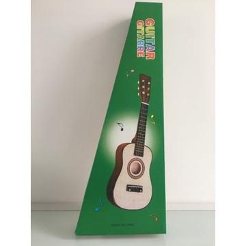 Mała gitara drewno i  metalowe struny + gratis