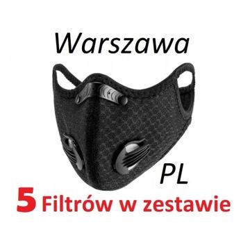 Maska  N99 ochronna ANTYWIRUSOWA  |5x filtr|