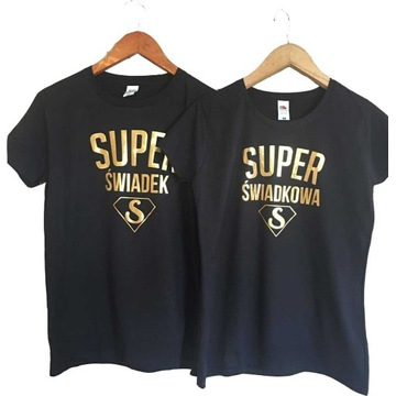 Zestaw koszulek Prezent dla Świadków Super Świadek