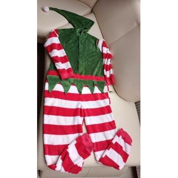 Elf strój przebranie pajac piżama pod namiot M