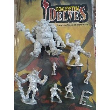 RPG Goalsystem DELVES -ponad 30 metalowych figurek