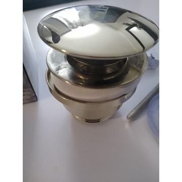 Korek klik klak Rea umywalkowy złoty nowy
