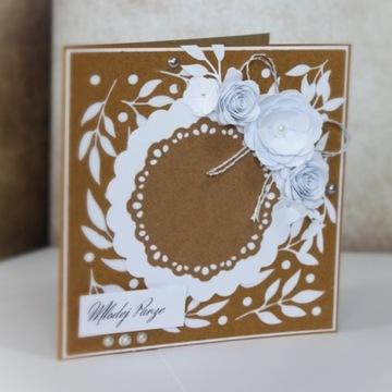 Kartka okolicznościowa ślub wesele pudełko