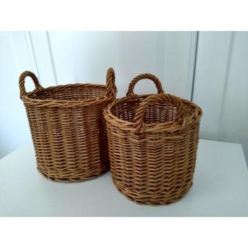 2 koszyki z wikliny lub doniczki, cena za 2 szt