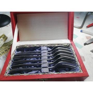 Komplet widelczyków do ciasta Hefra w pudełku.