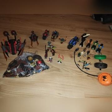 Lego Ninjago zestawy, mix, kompletne, figurki
