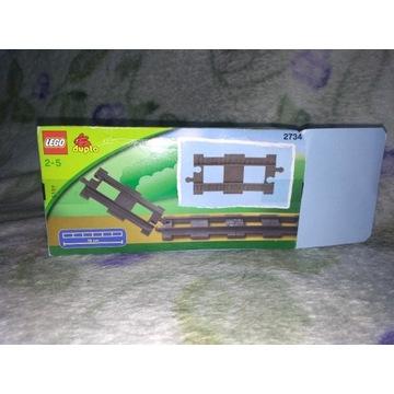 Lego Duplo 2734 tor prosty  do zestawu 5608 i 5609