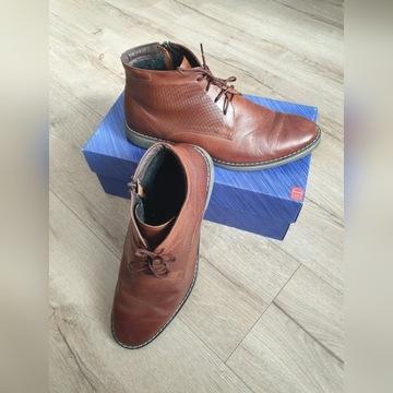 Męskie brązowe buty ze skóry  naturalnej r. 42.