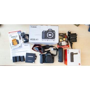 Canon 6D + grip, gwarancja - super stan, ZESTAW!