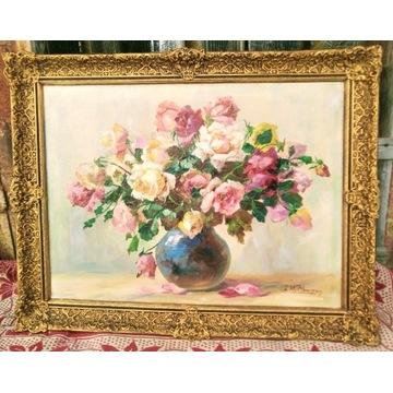 """Charles Wittmann  Francja """"kwiaty"""""""