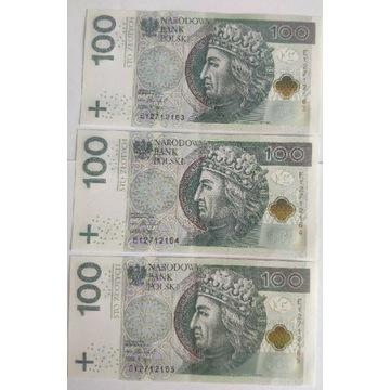 Banknoty Serii EY 2712161 - EY 2712165