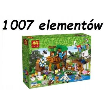 Klocki LELE MY WORLD Minecraft DUŻY ZESTAW 1007 el