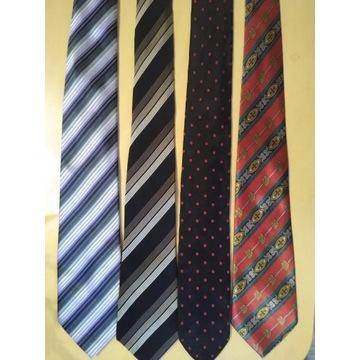 4 Krawaty Jedwabne