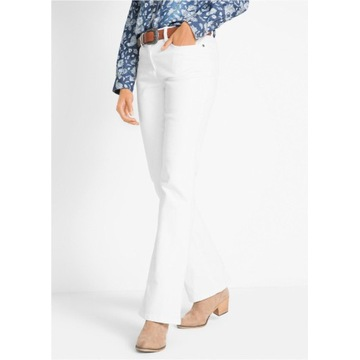Proste białe spodnie jeans R-50 i 52 i 54