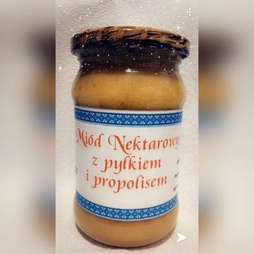Miód z propolisem i pyłkiem Miody z Krainy Żubra