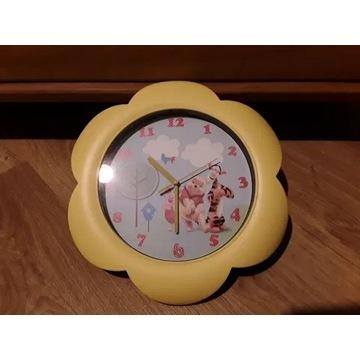 Zegar ścienny do pokoju dziecięcego Kubuś Puchatek
